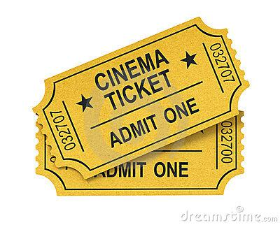 Cinema Tickes as Mothers Day Gift