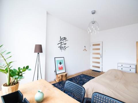 cozy bedroom in winter